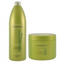 Shampoo Reestructuring 1000 ml + Mascara Capilar Recharging Mask Midollo Di Bamboo x500ml Alfaparf