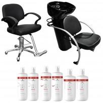 Sillón Advantage + Lavacabezas Excellece Cerámica + 2 Shampoo + 2 Acondicionador + 2 Tratamiento Schwarzkopf