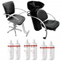 Sillón JPS+ Lavacabezas Excellence + 2 Shampoo + 2 Acondicionador + 2 Tratamiento Schwarzkopf