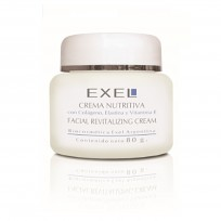 Crema Nutritiva con Colágeno, Elastina Vitamina E x 80ml Exel