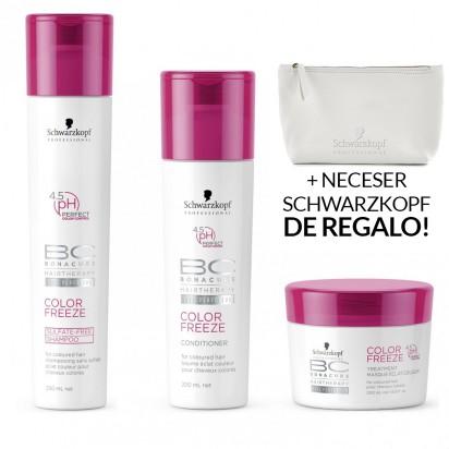Pack BC Color Freeze: Shampoo x 250ml + Acondicionador x 200ml + Tratamiento x 200g