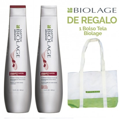 Pack Biolage Repair Inside: Shampoo + Acondicionador x 400ml Matrix + REGALO!!!