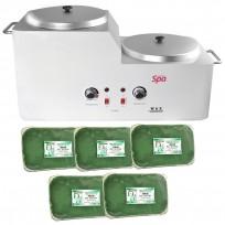 Calentador de Cera Para Depilación 4 a 6kgs TeknikPro + 5 Ceras Depilatoria x 1kg Dr Duval