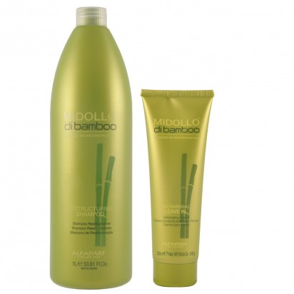 Crema Peinar Recharging Leave In x250ml+ Shampoo Reestructuring Midollo Di Bamboo 1000 ml Alfaparf