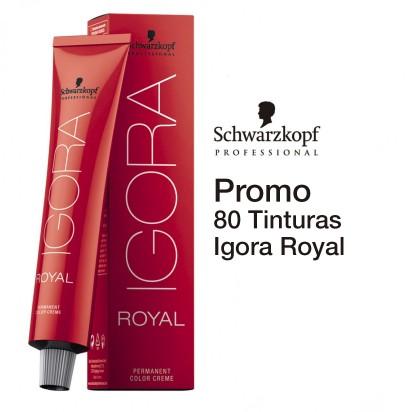 Promo Coloración Schwarzkopf: 80 tinturas Igora Royal