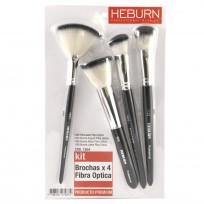 Kit Brochas x 4 Fibra Óptica Heburn