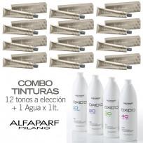 Combo 12 Tinturas + Oxidante x1 Lt Evolution Of The Color Alfaparf