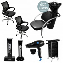 2 Sillones a Gas Day + Lavacabeza Excellence FG + Módulo Ayudante + Secador + Clipper + Trimmer