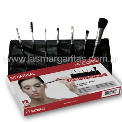Kit Pinceles para Maquillaje Natural Heburn
