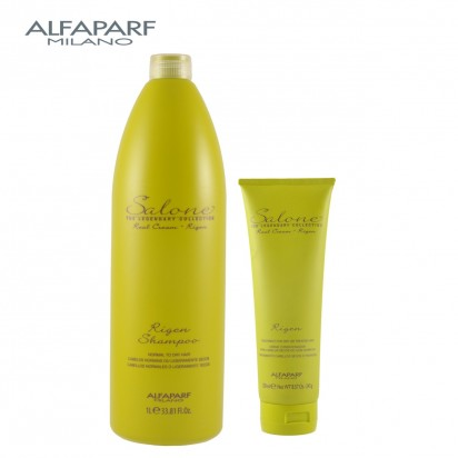 Shampoo Rigen x1000ml + Crema Nutritiva Rigen X250ml Salone Legendary Alfaparf