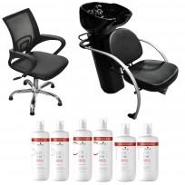 Sillón Luxury Day + Lavacabezas Excellece Cerámica + 2 Shampoo + 2 Acondicionador + 2 Tratamiento Schwarzkopf