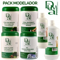 Pack Profesional Masajes Modeladores Dr. Duval: Lociones + Cremas + Gel