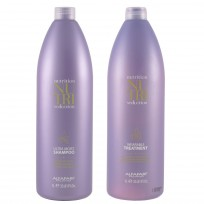 Acondicionador Leave-in Wearable Treatment x1000ml + Shampoo Ultra Moist x1000ml Nutri Seduction Alfaparf