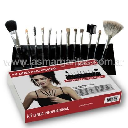 Kit Pinceles para Maquillaje Linea Profesional Heburn