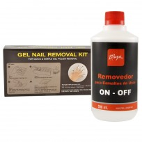 Set para Remover Uñas Gel On Off: Kit Nail Remover + Removedor Thuya