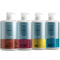 Pack Profesional Shampoo Lakme: Shampoo Body Maker + Deep Care + Color Stay + Gentle Balance x 1000ml
