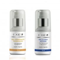 Kit Bio Reparación y Antiage Exel: Gel Hidratante Reparador + Gel Fluido AntiAge