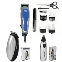 Combo Máquina HomePro Wahl + Trimmer Nasal + Mini Razor a Pilas
