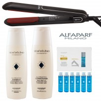 Plancha de Pelo Profesional HCT Heat Control Technology WPRO + Shampoo Rejuvenating X250ml + Acondicionador Rejuvenating Balm X150ml + AMPOLLA OIL Illuminating X15ml Semi Di Lino Diamante Alfaparf