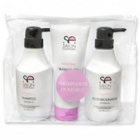 Pack Keratina Uso Profesional: Shampoo + Acondicionador + Tratamiento de Regalo