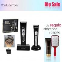Pack Peluquería Profesional Official Barber: Máquina de Corte + Trimmer Recargable + Shampoo Schwarzkopf y Cepillo de Regalo!!