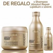 Shampoo Serie Expert Absolut Repair Lipidium Loreal Professionnel x 250ml + Mascara Tratamiento Serie Expert Absolut Repair Lipidium x 200ml + REGALO!!!