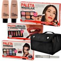 Combo Paletas de Maquillaje Heburn