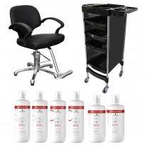 Sillón Hidráulico Advantage + Módulo Andrew + Shampoo + Acondicionador + Tratamiento Schwarzkopf