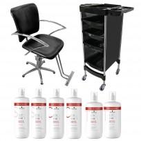 Sillón Hidráulico JPS + Módulo Andrew + Shampoo + Acondicionador + Tratamiento Schwarzkopf