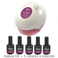 Cabina para Uñas Gelificadas UV Teknikpro Spa + 5 Esmalte Gel ON OFF Thuya x 14ml