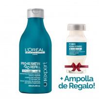 Shampoo Serie Expert Pro Keratin Refill x 250ml Loreal Professionnel + 1 Ampolla de REGALO!!!