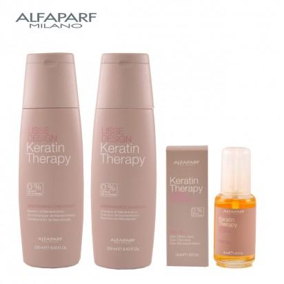Pack Completo Línea Lisse Design Keratin Therapy Alfaparf