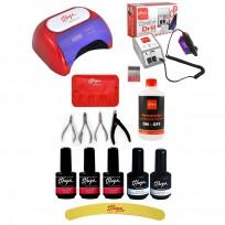 Esmaltes Semipermanentes Gel On Off + Set de alicates + Accesorios + Cabina y Torno