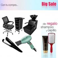Combo Lavacabezas Andrew + Ayudante + Sillón De Corte Day + Plancha + Secador + Shampoo Schwarzkopf y Cepillo de Regalo!
