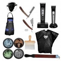 Combo herramientas para barbería + Accesorios + Productos Capilares