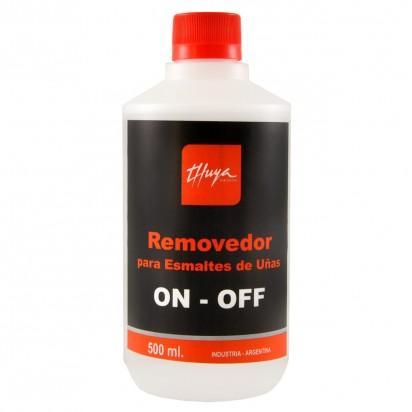 Removedor para esmaltado semipermanente Gel On Off Thuya x 500ml