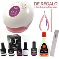 Cabina UV Teknikpro + Kit Semipermanente Gelificadas ON OFF Thuya + Esmalte Gel ON OFF Thuya + REGALO!!!