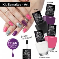 Kit Art Esmaltes Hipoalergénicos