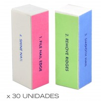 30 Bloques Lima Fina / Lima Gruesa +  Brillos TP02