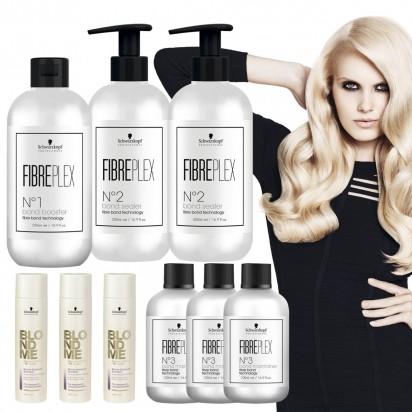 Super Promo FibrePlex : 1 Kit FibrePlex + 3 Bond Mantainer + 3 Shampoo BlondMe x250ml  Schwarzkopf