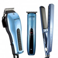Clipper de Corte Super Motor con cable + Trimmer de Corte Stealth Recargable + Plancha Húmedo Digital 2091 Babyliss PRO