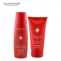 Shampoo Color & Meches Protection X250ml + Máscara Color & Meches Protection X150ml Semi Di Lino Diamante Alfaparf