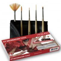 Kit de Pinceles para Decoración de Uñas Fibra Toray Heburn