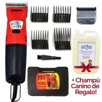 Máquina de Corte Profesional para Mascotas Pet Clipper Uso Veterinario TeknikPro + Shampoo Regalo!
