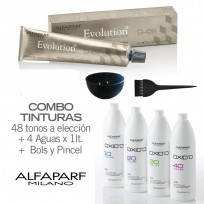 Combo 48 Tinturas + 4 Oxidantes x1 Lt Evolution Of The Color Alfaparf + Bols + Pincel
