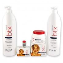 Pack BTX: Acondicionador x1.8 lt + Shampoo x1.8 lt +Tratamiento Capilar x 500gr + Caja de 12 Ampollas x10ml BTX Primont
