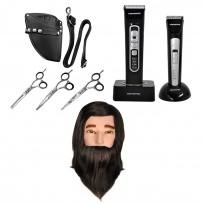 Combo Pack Peluquería Profesional + Jay 2 Set + Cabeza de Práctica con Barba