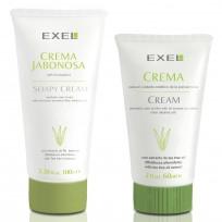 Kit para el cuidado de la piel acneica Exel: Crema jabonosa + Crema de limpieza