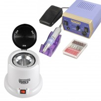 Combo Torno Drill 288 Professional para Manos y Pies TekniKpro Spa + Esterilizador Profesional de Herramientas Healthy Tools