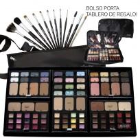 Combo Maquillaje Pinceles Tablero Premium MakeUp Artist Heburn